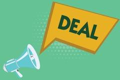 Begriffshandschriftvertretung Abkommen Die Geschäftsfotopräsentation nehmen am Handelshandel eines bestimmten Produktes ist teil vektor abbildung