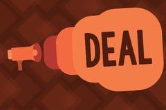 Begriffshandschriftvertretung Abkommen Geschäftsfoto-Text Vereinbarung nahm an durch zwei teil oder mehr Parteien für ihr gegense stock abbildung
