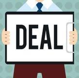 Begriffshandschriftvertretung Abkommen Geschäftsfototext nehmen am Handelshandel eines bestimmten Produktes ist teil lizenzfreie abbildung