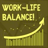 Begriffshandschriftvertretung Arbeits-Leben-Balance Geschäftsfoto-Text Zeiteinteilung zwischen Funktion oder Familie und stock abbildung