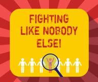 Begriffshandschriftvertretung, die sonst wie niemand kämpft Geschäftsfoto-Text Kampf für Ihre Rechte motiviert, um zu gewinnen lizenzfreie abbildung