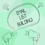 Begriffshandschriftvertretung E-Mail-Listen-Gebäude Geschäftsfototext erlaubt die Verteilung von Informationen analysisy vektor abbildung