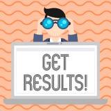 Begriffshandschriftvertretung erhalten Ergebnisse Geschäftsfotopräsentation verursacht oder durch noch etwas Konsequenz produzier lizenzfreie abbildung