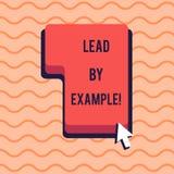 Begriffshandschriftvertretung Führung durch Beispiel Das Geschäftsfoto, das Sie zur Schau stellt, werden, demonstrierend andere,  stock abbildung