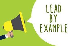 Begriffshandschriftvertretung Führung durch Beispiel Die Geschäftsfotopräsentation ist ein Mentor, den Führer den Regeln geben Be vektor abbildung
