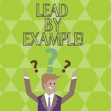 Begriffshandschriftvertretung Führung durch Beispiel Geschäftsfoto Präsentationsführungs-Management-Mentor-Organisation vektor abbildung