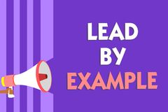 Begriffshandschriftvertretung Führung durch Beispiel Geschäftsfototext ist ein Mentor, den Führer den Regeln geben Beispiele Trai vektor abbildung
