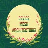Begriffshandschriftvertretung Gerät Mesh Architecture Geschäftsfoto, das Digital-Geschäftstechnologieplattform zur Schau stellt lizenzfreie abbildung