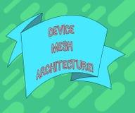 Begriffshandschriftvertretung Gerät Mesh Architecture Geschäftsfototext Digital-Geschäftstechnologie-Plattformkoordination lizenzfreie abbildung