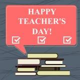 Begriffshandschriftvertretung glücklicher Lehrer S Is Day Geschäftsfototext-Geburt zweite Präsident India verwendet zu feiern stock abbildung