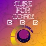 Begriffshandschriftvertretung Heilung für Copd Geschäftsfoto, das ärztliche Behandlung über chronischem hemmendem Lungen zur Scha vektor abbildung