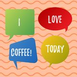 Begriffshandschriftvertretung ich Liebes-Kaffee Liebende Neigung des Geschäftsfoto-Textes für Heißgetränke mit Koffein vektor abbildung
