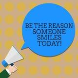 Begriffshandschriftvertretung ist der Grund, den jemand heute lächelt Geschäftsfototext machen jemand glücklich geben etwas Freud stockfoto