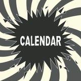 Begriffshandschriftvertretung Kalender Geschäftsfoto Präsentationsseiten, die Tageswochenmonate bestimmter Jahr Anzeige zeigen stock abbildung