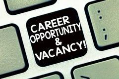 Begriffshandschriftvertretung Karriere-Gelegenheit und freie Stelle Geschäftsfoto-Text Job, der Huanalysis-Betriebsmittel sucht lizenzfreies stockfoto