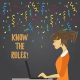 Begriffshandschriftvertretung kennen die Regeln Die Geschäftsfotopräsentation verstehen, dass Bedingungen legal erhalten lizenzfreie abbildung