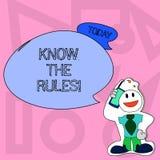 Begriffshandschriftvertretung kennen die Regeln Geschäftsfototext verstehen, dass Bedingungen Rechtsberatung erhalten lizenzfreie abbildung