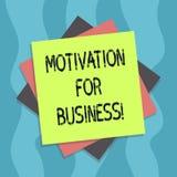 Begriffshandschriftvertretung Motivation für Geschäft Geschäftsfototextwunsch und -energie werden fortwährend festgelegt lizenzfreie abbildung