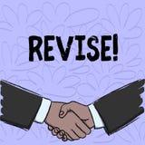 Begriffshandschriftvertretung Revisionsbogen Geschäftsfototext prüfen etwas nach, es zu verbessern zu wiederholen vektor abbildung