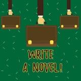 Begriffshandschriftvertretung schreiben einen Roman Die Geschäftsfotopräsentation ist kreativ, etwas Literaturerfindung schreiben vektor abbildung