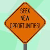 Begriffshandschriftvertretung Suchvorgang-neue Gelegenheiten Geschäftsfoto, das einem neuen Job oder nach anderen suchend zur Sch lizenzfreie abbildung