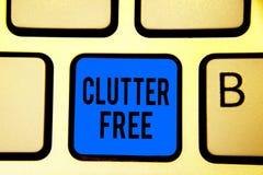 Begriffshandschriftvertretung Unordnung geben frei Geschäftsfototext gut organisierte und vereinbarte sauber alle Sachen in den r lizenzfreies stockbild