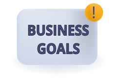 Begriffshandschriftvertretung Unternehmensziele Über einem Besonderen zu vollenden Geschäftsfoto Präsentationserwartung, vektor abbildung
