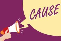 Begriffshandschriftvertretung Ursache Geschäftsfoto, das Person Thing zur Schau stellt, der ein Aktionsphänomen verursacht stock abbildung