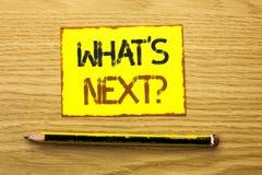 Begriffshandschriftvertretung welche folgende Frage s Geschäftsfoto, das Fantasie um auserlesene Lösung bitten folgendes Question Stockfotografie