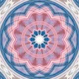 Begriffsillustration der abstrakten grafischen Mandala geschaffen mit dem Apophysis Lizenzfreie Stockfotografie