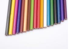 Begriffskunst der bunten Bleistiftrückseiten-Ansicht Stockbild