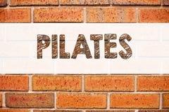 Begriffsmitteilungstext-Titelinspiration, die Pilates zeigt Geschäftskonzept für die Eignungs-Balancen-Trainings-Übung an geschri Lizenzfreie Stockfotografie