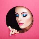 Begriffsschönheitsporträt der schönen jungen Frau Lizenzfreies Stockfoto