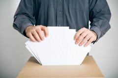 Begriffsschuß der Stimmzettel-Takelung Stockfoto