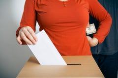 Begriffsschuß der Stimmzettel-Takelung Lizenzfreie Stockfotografie