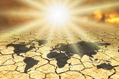 Begriffsszene, Klimawandel Stockfotografie