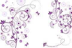 Begroetende bloemenkaart royalty-vrije illustratie