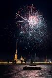 Begroeting in St. Petersburg stock foto's