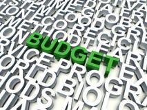 Begroting vector illustratie