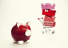 Begroting voor Gift Retro kleuren Royalty-vrije Stock Afbeelding