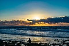 Begrundande av solnedgången royaltyfri fotografi
