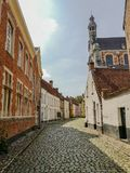 beguinage和圣玛格丽特` s教会在Lier,比利时 免版税库存照片