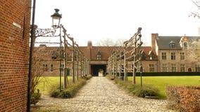 Beguinage Bélgica del begijnhof de Lovaina Imagen de archivo libre de regalías