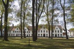 Beguinage (Begijnhof) in Bruges, Belgium Royalty Free Stock Photography