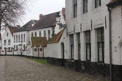 Beguinage (Begijnhof). The Beguinage (Begijnhof) of Bruges was founded in 1245 and occupied by the Beguines (a religious group of women) for the next seven stock photo