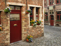 Beguinage Bezirk in Gent Stockfoto