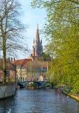 Beguinage  bridge in Bruges, Belgium Royalty Free Stock Image