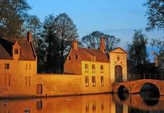 Beguinage a Bruges Immagine Stock Libera da Diritti