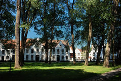 Beguinage in Bruges Stock Image