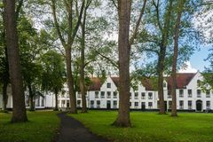 Beguinage of Bruges in Belgium Stock Photography